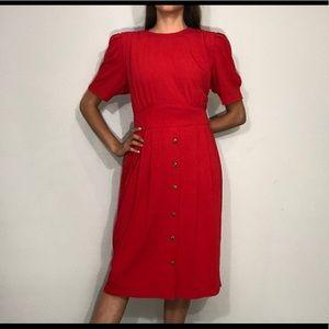 1980s red dress